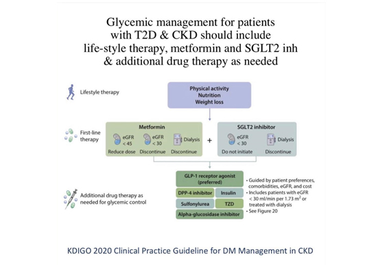 Glycemic Management for patients with T2DM and CKD