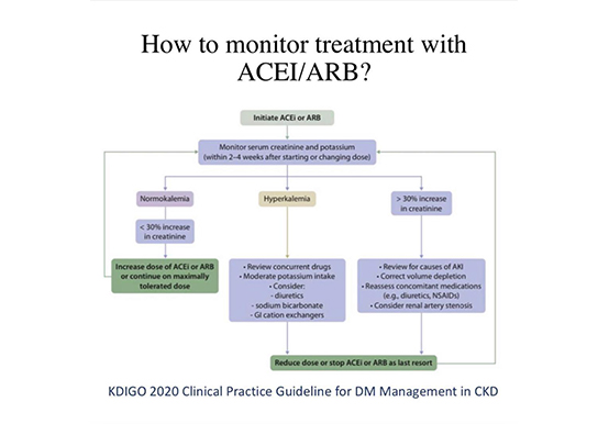 Monitoring of ACEI/ ARB Treatment in Patients with T2DM and CKD
